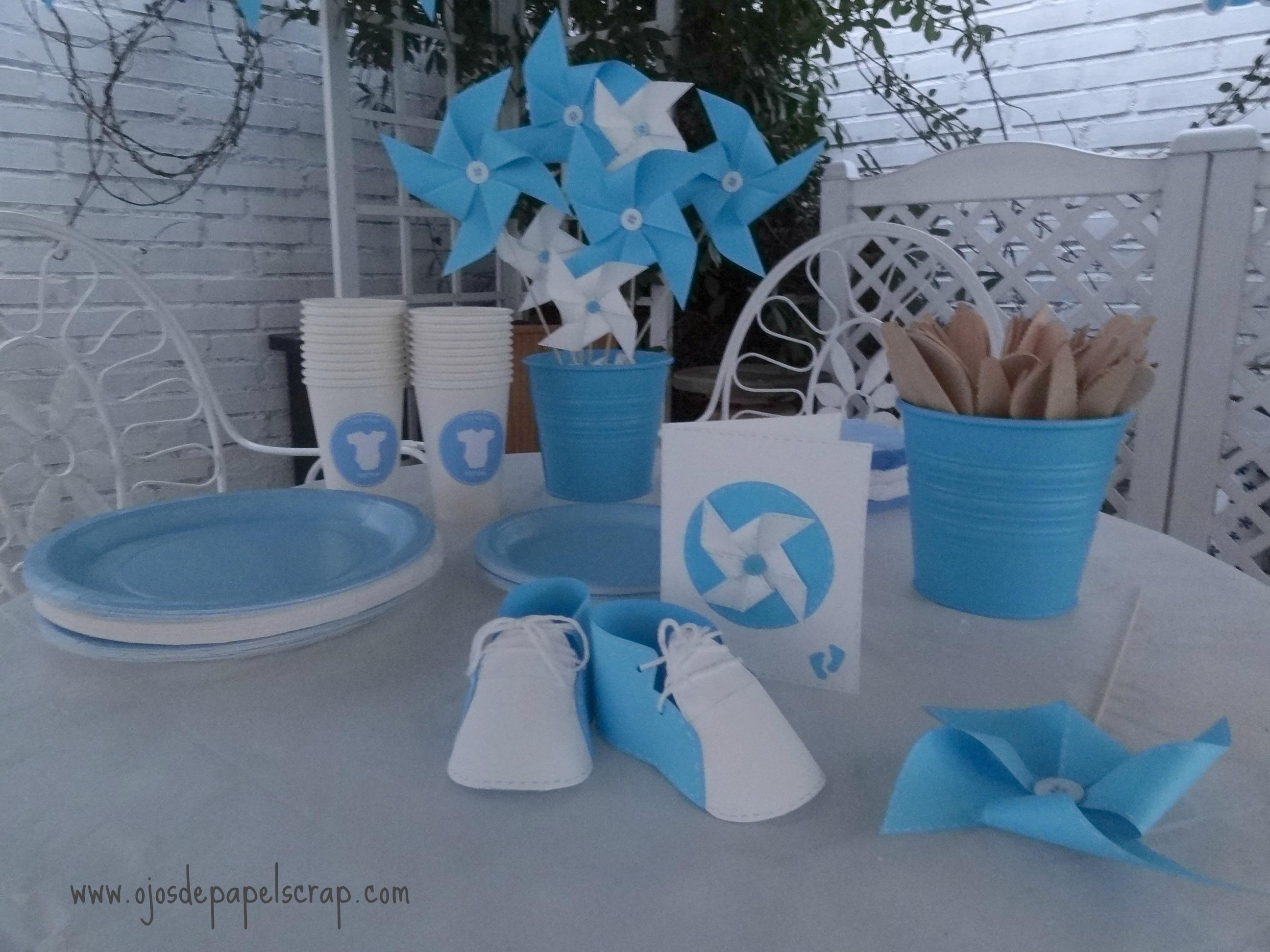 Decoraci³n babyshower azul