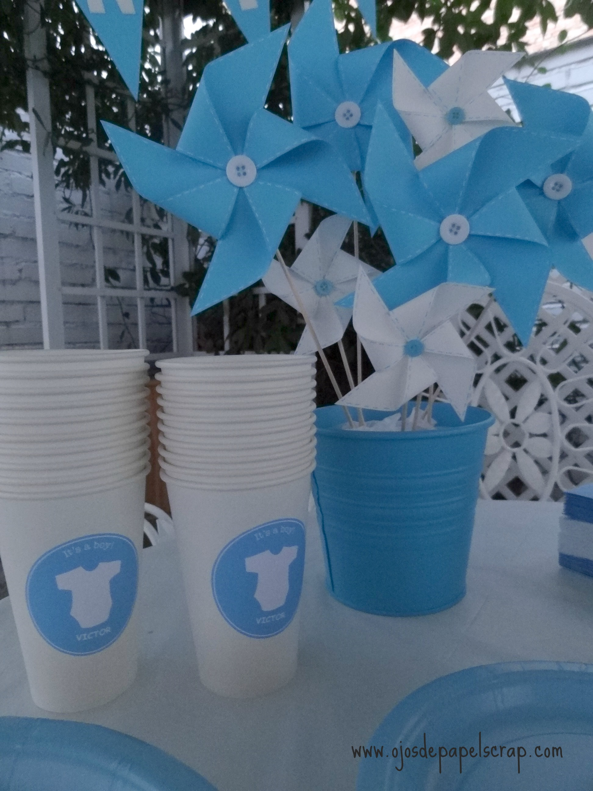 baby shower decoraci n con papel imagui