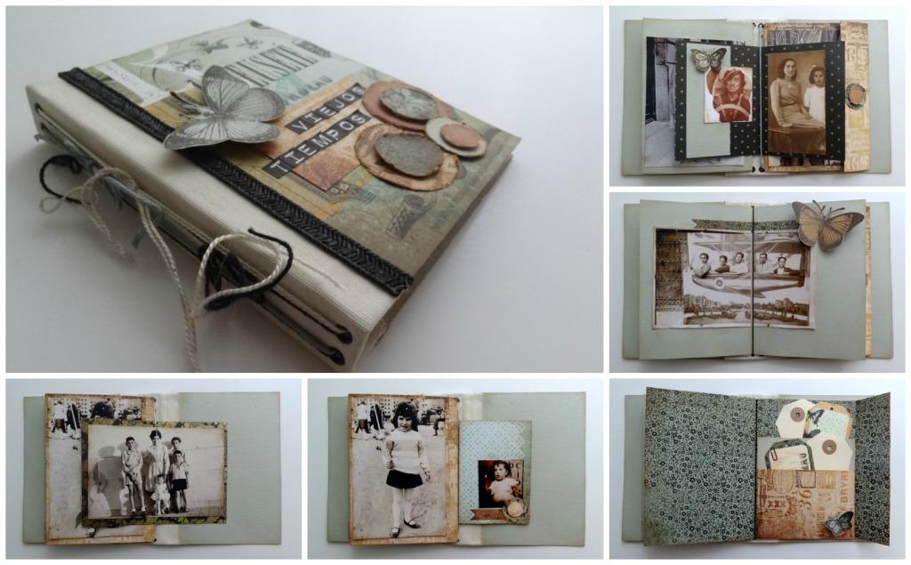 Resumen del taller lbum vintage ojos de papel - Albunes de fotos caseros ...