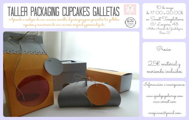 Cartel Taller packaging cupcakes copia