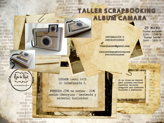 Cartel taller álbum cámara