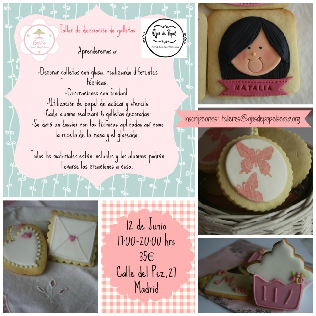 Cartel taller galletas